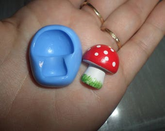 Mold for polymer clay mushroom 2.2 x 2 cm approx