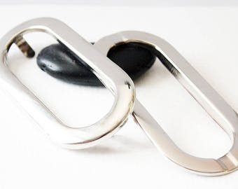 Wrist purse silver - OVAL clasps