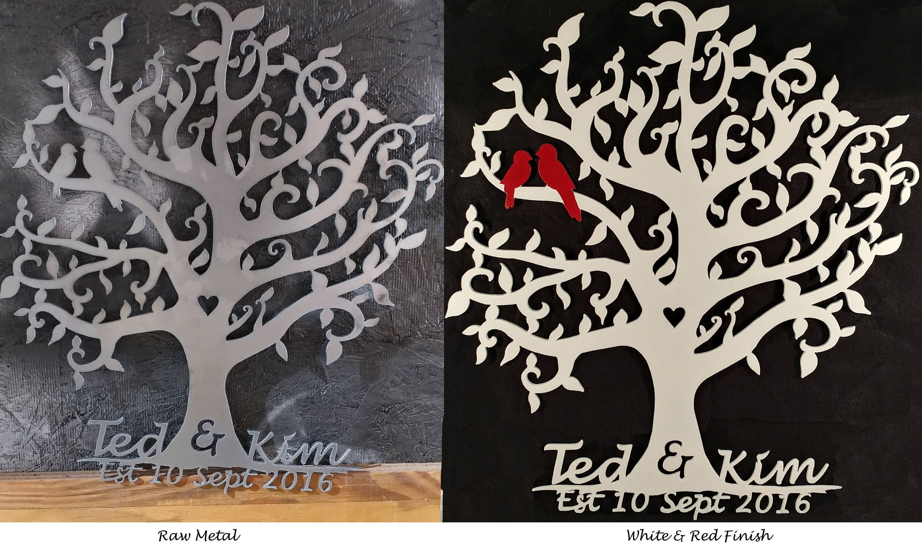 Family Tree Wedding Tree Wedding Gift Anniversary Gift White