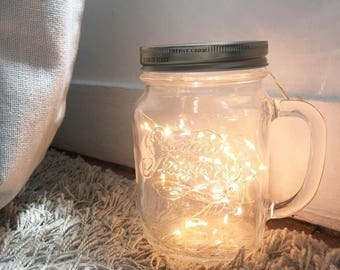 Mason jar decorative led light
