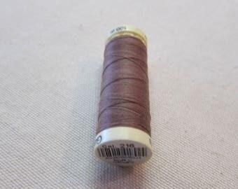 Sewing thread Brown n 216 Gütermann 100% polyester
