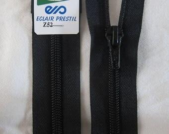 Black 80 cm separable zipper closure