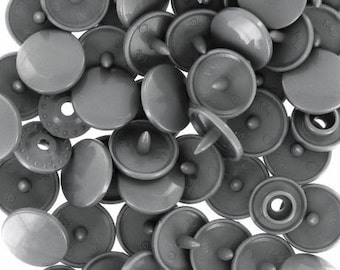 Clear 10 grey KAM snap buttons size 12.4 mm