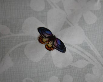 transparent Butterfly multicolored 2 x 0.9 cm, n73