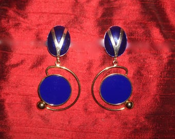 Vintage modernist clip earrings