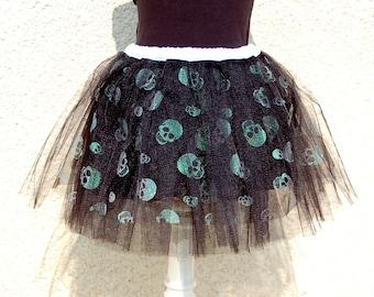 Skirt Halloween skulls Black 4-8 years