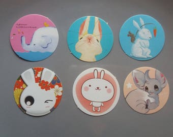 Set of 6 cute stikers