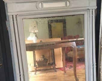 Vintage Overmantle mirror