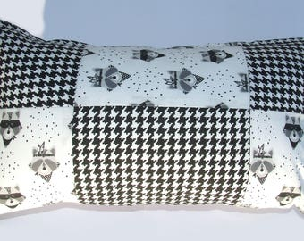 Hold back patchwork cushion