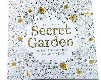 Coloring book secret garden