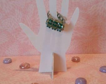 Ring beaded - moss green