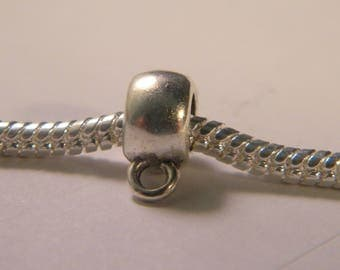 2 bail antique silver metal 11.5 x 8 mm - Pearl European-D02