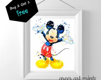 Mickey Mouse Wall Art mickey wall art | etsy