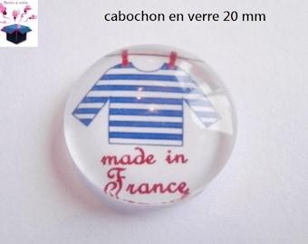 1 cabochon clear 20mm marine theme