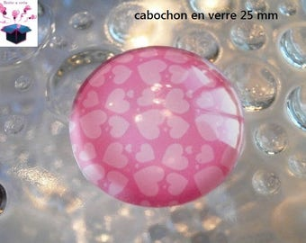1 cabochon clear 25 mm theme design