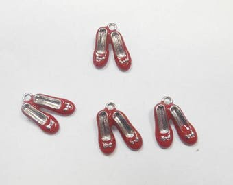 4 charms enamel ballerina 1.5 x 1.5 mm