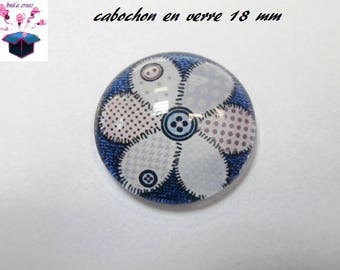 1 cabochon clear 18 mm heart jeans theme