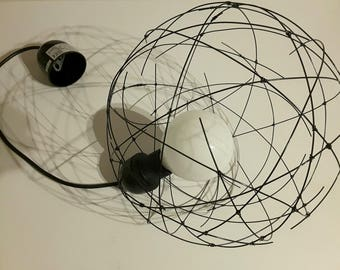 Light ball, sphere wire, hanging, very clean, air, possible made to measure