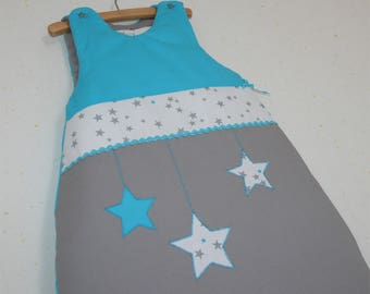 Sleeping bag 0-6 months teal and gray stars on order