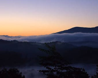 Photography print, landscape print, nature print, Dawn in Smoky Mountains,NC - 55001026