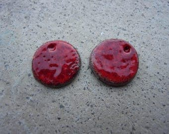 polymer clay imitation enamel 13mm pendants
