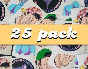 Face Melt (25) sticker package