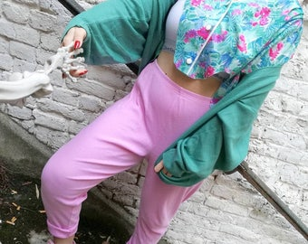 Pants / leggings vintage 80's pink