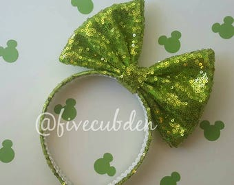 Lime green oversized bow