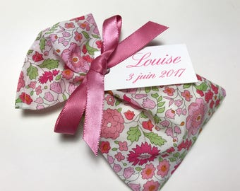 10 bags of sweets customized pink Liberty of Anjo