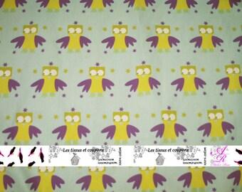 Creation of printed fabrics blue owls