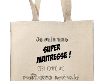 Tote bag, teacher, teacher, nanny...