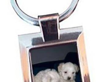 Rectangular customize 1 photo keychain