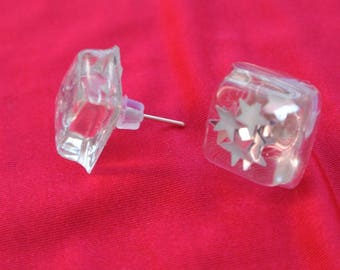 square bullet earrings