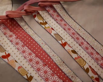 12 pink and grey Bunting