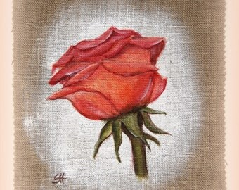 """Painting on canvas pink """"cute"""" Interleave for creation"""