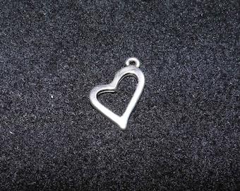 20mm silver heart pendant