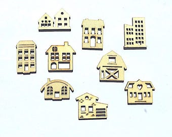 "Wooden embellishment Pack ""architecture"""