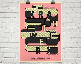 A2 Krautwerk limited edition screen print