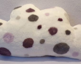 Cloud pillow soft white pink purple brown dots for baby, child or room decoration