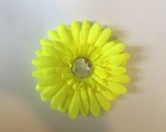 Neon Flower Hair Clip