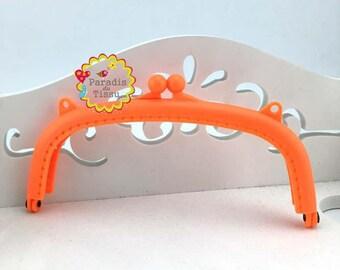 1 x door clasp wallet resin orange K395 15cm