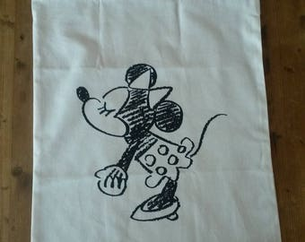 Fabric storage bag / Minnie pattern / laundry bag