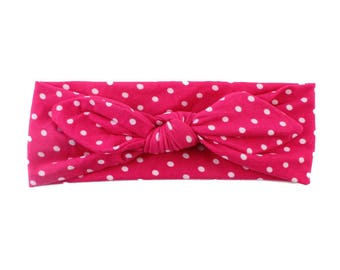 Iris polka dot headband