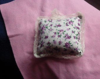 Wall hanging floral fabric cushion