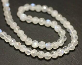 Stone - 1pc - bead ball Facettee 5 mm - 8741140020283 Rainbow Moonstone