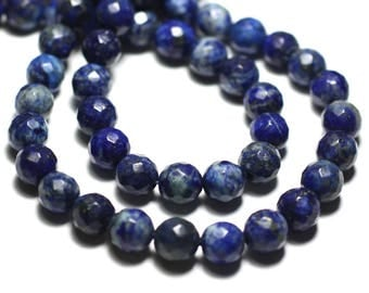 10pc - stone beads - Lapis Lazuli faceted 6mm 4558550015068 balls