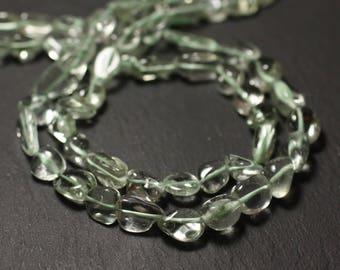 10pc - stone beads - Amethyst green Prasiolite 7-13mm - 8741140011601 Olives