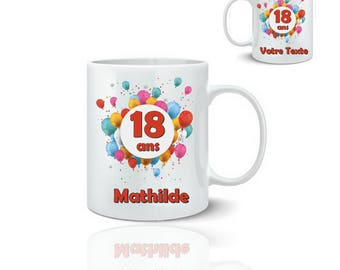 Personalized birthday mug - ceramic mug 325 ml