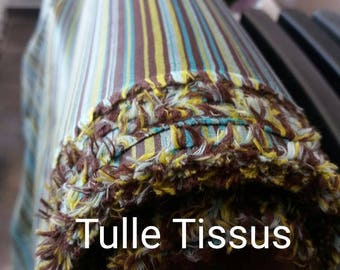 Gorgeous glossy taffeta has striped multicolor width 160 cm