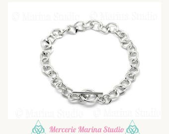 Chunky knit (perfect for charms) silver n29955 2 bracelets